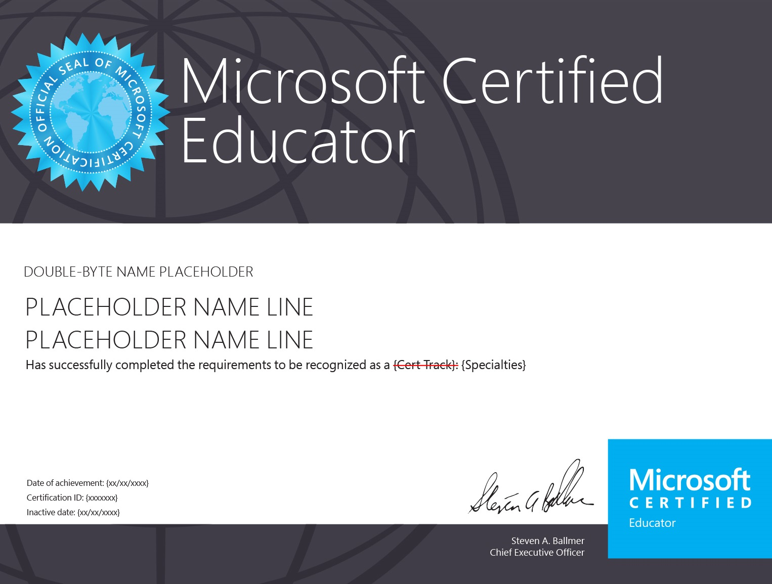 Microsoft Certified Educator (MCE)