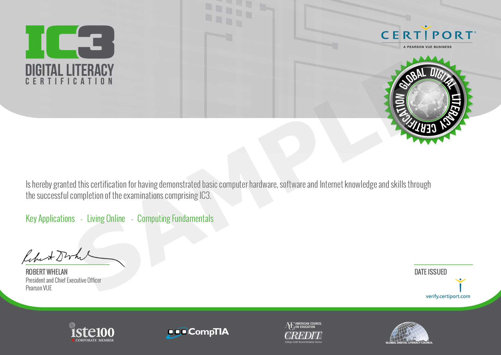 Digital Literacy Certification (IC3)